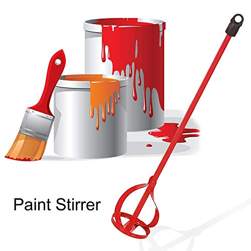 Fantastic Deal! HuntGold 1PC Drill Paint Mixer Paddle Power Mixing Plaster Stirrer Red Durable for P...
