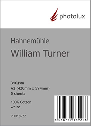 Hahnemühle William Turner 310g/m² DIN A2 in 5-Blatt FineArt Fotopapier