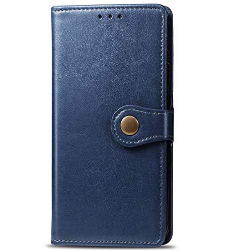 TANYO Hülle Geeignet für Huawei Y6s, Premium Leder Tasche Flip Wallet Hülle, mit Kartenfächern & Standfunktion, PU-Leder Schutzhülle Brieftasche Handyhülle. Blau