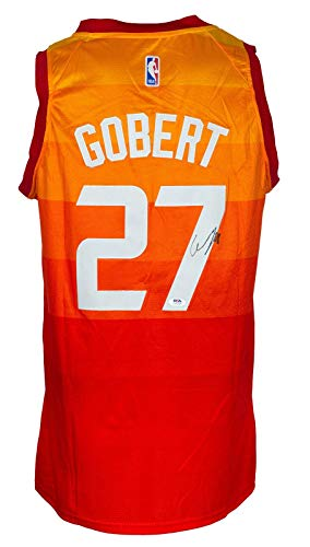 Signed Rudy Gobert Jersey - Orange - PSA/DNA Certified - Autographed NBA Jerseys