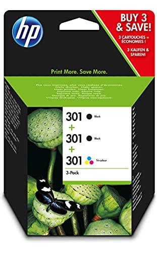 HP 301 E5Y87EE Cartucce Originali, 545 Pagine, per Stampanti a Getto di Inchiostro HP DeskJet 1050, 2540, 3050, HP...