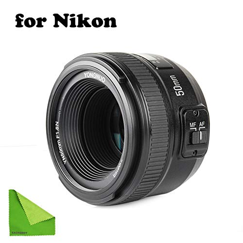 commercial YONGNUO YN EF 50 mm 1: 1.8 AF lens YN50 autofocus, AF-S 50 mm 1.8 G, etc. Aperture for Nikon cameras prime lenses for nikon cameras