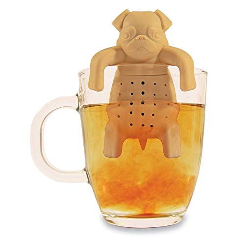 NOKI INFUSOR DE Te Original Gift Pug in A Mug, Silicone, Marrone