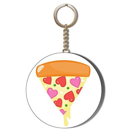 Gift Insanity - Apribottiglie portachiavi a forma di pizza, 58 mm