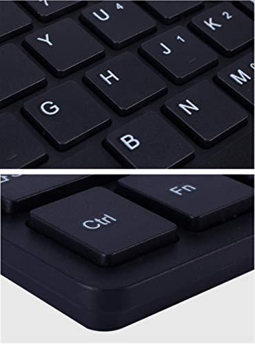 GeWu888 Teclado 78 Teclas con Cable Mini Teclado del Interfaz de Escritorio Silencio Ordenador Ultra-Delgado Teclado Oficina Juego para la Oficina en casa (Color : White)