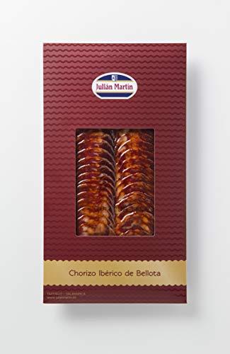 Chorizo Iberico de Bellota - 100 Gramm Chorizo Wurst Scheiben aus Julián Martin Eichel gefüttert 100% iberische Schweine