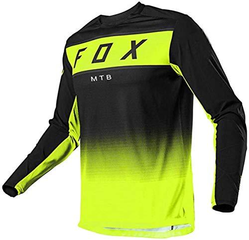 Bike Jersey Big, Fox Mountain Bike Jersey, Jerseys de Descenso para Hombre MTB Mountain Bike MTB Camisas Offroad Motorcycle Jersey Motocross Sportwear Ropa XS