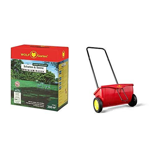 WOLF-Garten - Premium-Rasen »Schatten & Sonne«LP 200; 3820050 & Universal-Streuwagen WE 330; 5429000