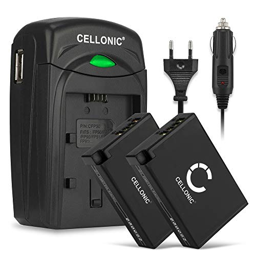CELLONIC 2X Batería Compatible con Canon EOS 750D EOS 760D EOS 770D EOS 800D EOS Kiss X8i EOS M3 EOS M5 EOS M6 Mark II EOS Rebel EOS RP Repuesto LP-E17 Cargador LC-E17 Cable Carga Coche Automòvil