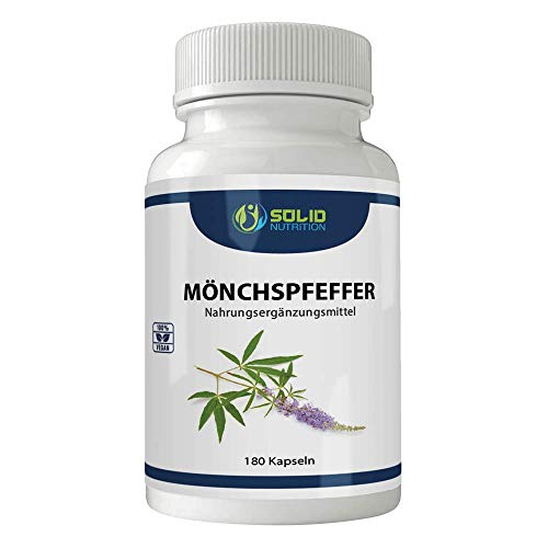 Mönchspfeffer Extrakt 180 Kapseln - Hochdosiertes Naturprodukt - Original Vitex Agnus Castus - 10mg Extrakt je Kapsel - Vegan (Vorrat für 6 Monate)