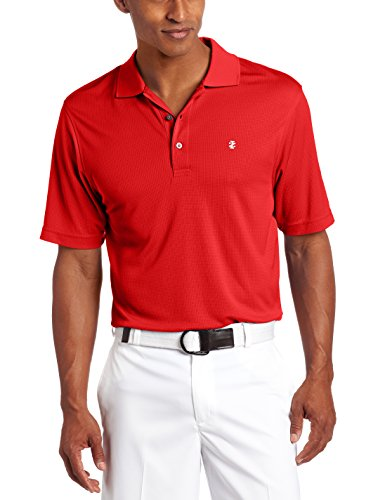 IZOD Men's Performance Golf Grid Polo, Polished Red, Medium
