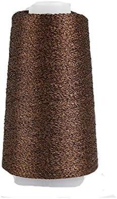 Coffee Brown Sparkle Accessory Yarn Metallic Yarn Shining Glitter Yarn Crochet Knit Thin Thread product image