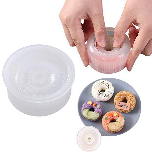 Non Stick Sushi Maker Press Onigiri Mold Donut Rice Shaper Mold DIY Tool Ideal BPA Free Rice Ball Mold(1 Pack