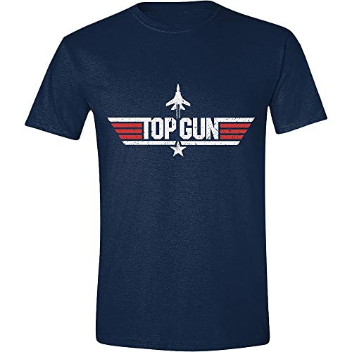 Top Gun Distressed Flag T-Shirt schwarz M