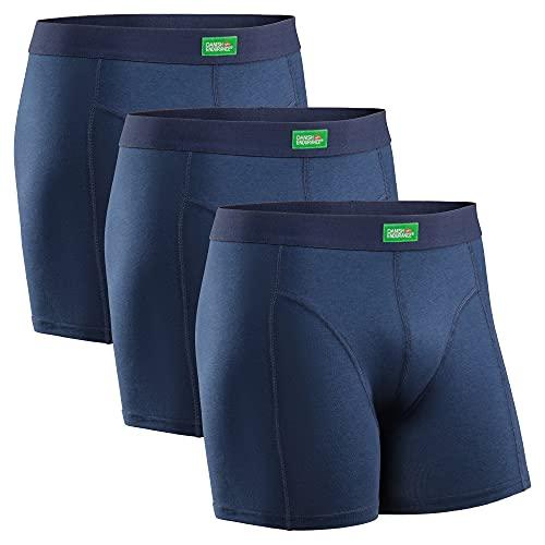 DANISH ENDURANCE Boxershorts aus Bio-Baumwolle (Blau - 3 Pack, X-Large)