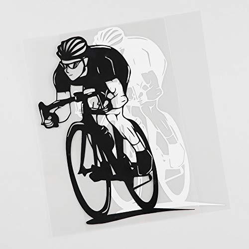 RUIRUI Coole Fahrrad Radfahren Sport Aufkleber Vinyl Auto Aufkleber Schwarz 12.4Cmx17Cm