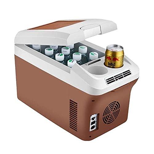 FHKBK Refrigerador de Coche -12V / 24V / 220V Refrigerador de Nevera portátil congelador, Refrigerador Compacto de refrigeración de Doble núcleo de 15 litros, para Coche, camión, hogar