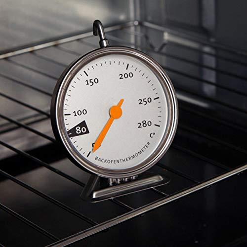 Tree-on-Life Thermomètre de Four de Cuisson en Acier Inoxydable avec Cadran à Lecture Facile Cuisine Cuisine Viande Cuisson 50-280 Celsius Argent