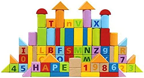 CHAIZIYU Building Blocks Toys 80 Digital Alphabet Combination 1 Jahr alte Elm Early Learning Educational Toys Boys und Girls Birthday Geschenke