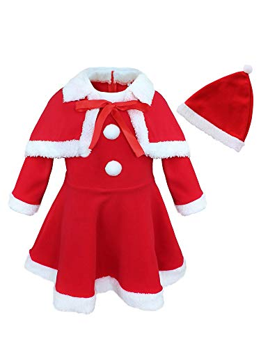 YiZYiF Kids Baby Girl's Christmas Santa Claus Costume...