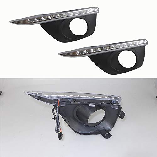 Tuqiang Tagfahrlicht für R-enault Koleos 2011-2015 DRL LED Tagfahrlicht Auto Zubehör Blinker Nebelscheinwerfer Einfarbig 1 Paar
