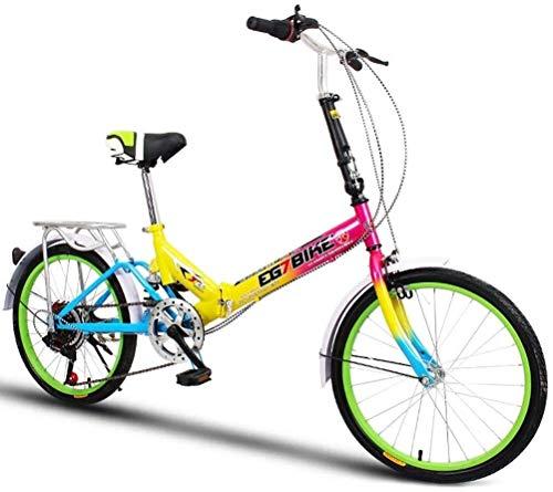 Fahrrad Faltbare Bikes Folding Fahrrad Ultra Light tragbare Mini-Rädchen Geschwindigkeit Stoßdämpfung (20 Zoll / 16 Zoll), Größe: 16in (Color : 6, Size : 16in)