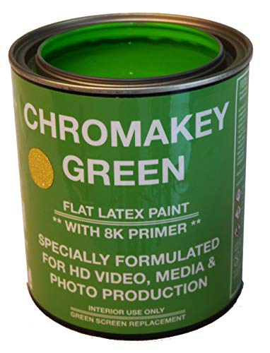 ChromaKey HD Video Green Screen Paint with 8K Primer 1 Quart