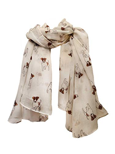 Pamper Yourself Now Creme Jack Russel Hund Schal/wrap -Cream Jack Russel Dog Scarf/wrap