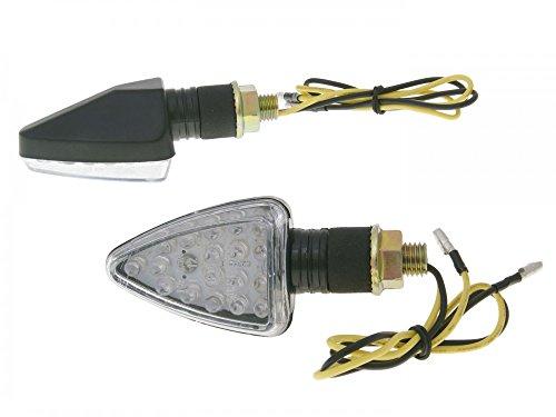 Clignotant LED Set M10 Carbone Mini, Courte
