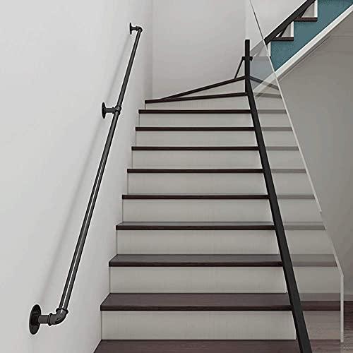 GAXQFEI Pandrail para Escaleras, Tubería Industrial Handrail Kit Completo, Barandilla de Barredor de Seguridad de Canal Loft Antideslizante, la Barandilla de Corredor Al Aire Libre Interior de la Par