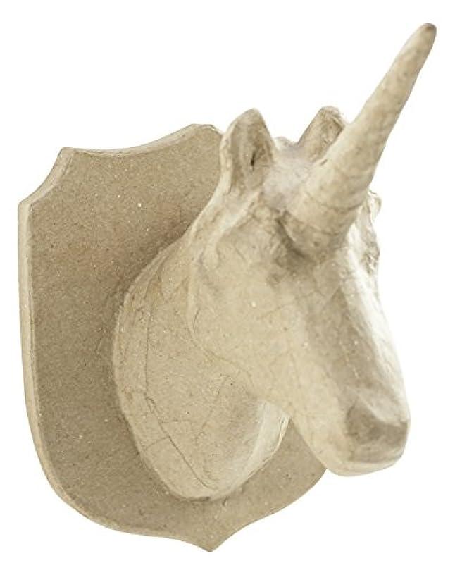 décopatch Mache Unicorn Trophy Head, 18 x 15.5 x 21 cm, Brown