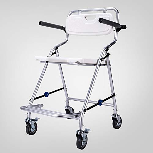 ZBAM Duschstuhl Rollstuhl Fahrbarer Toilettenstuhl Rollender, Älterer, Behinderter, Schwangerer, Rutschfester Badhocker
