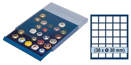 SAFE MÜNZBOX NOVA Nr. 6330 - 30 x 30 mm QUADRATISCHE FÄCHER - IDEAL FÜR CHAMPAGNERDECKEL & KRONKORKEN - 5 DM - 5 MARK DDR - MÜNZEN, Münzen in Münzkapseln bis Caps 24,5 mm Münzen bis zu einem Durchmesser von 30,5 mm - Münzenboxen - Münzboxen - Münzelemente