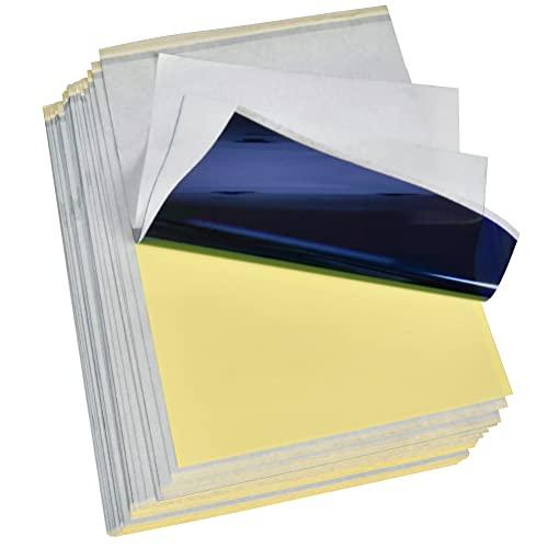 QLOUNI 30 Blatt Carbon Tattoo Papier Profi A4 Kohlepapier Pauspapier Transferpapier Matritzenpapier Schablone Selberdrucken