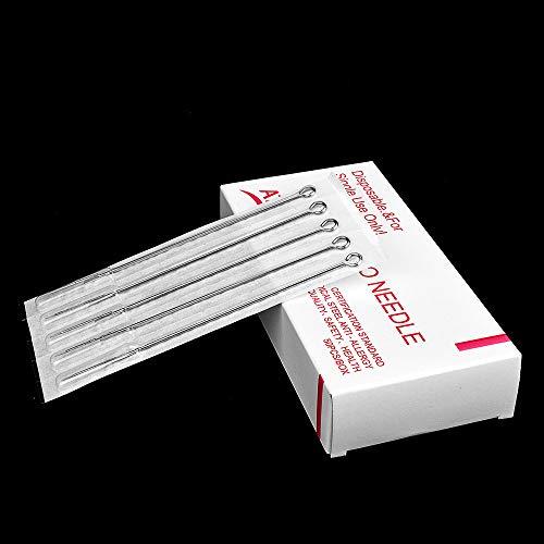 ATOMUS 50pcs Tattoo Needles 7RL Disposable Tattoo Needles Set Stainless Steel Taeto Needles for Tattoo Machine