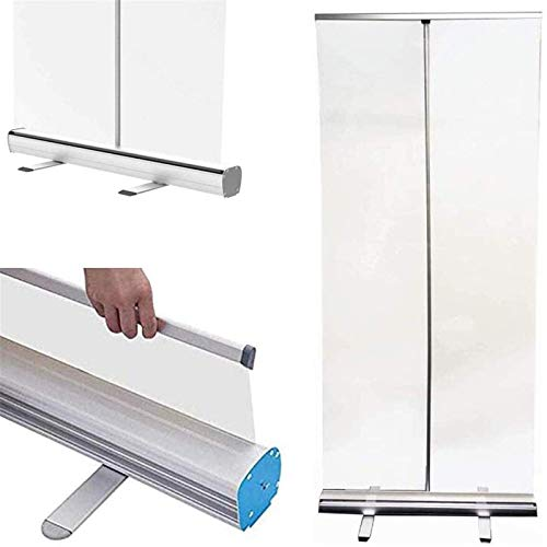 Pop-up-Pull-up-Rollerbanner, transparenter Hygienebildschirm, Nieschutzbildschirm, mobiler einziehbarer Zaun, sozialer Schutzabstand, 80 * 180 cm