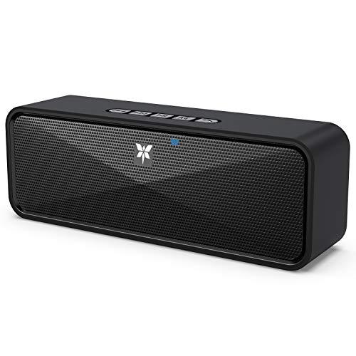 Bluetooth Lautsprecher Tragbarer Axloie Kabelloser Lautsprecher Bluetooth 5.0 mit eingebautem Mikrofon USB-Anschluss / TF-Karte / Aux 10 Stunden Spielzeit für Party Reise Outdoor- Schwarz