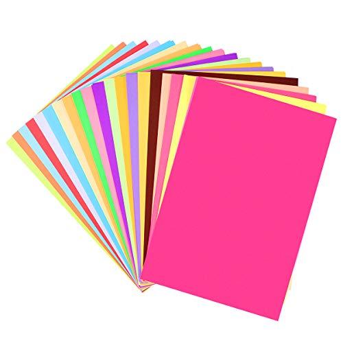 Supvox, Risma di carta con colori pastello, carta per stampante perfetta per la scuola e i progetti fai da te, formato A4, 100 fogli di colori assortiti