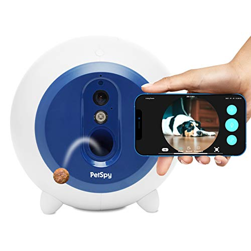 Dog Treat Dispenser with Camera WiFi Full HD Pet Monitor 2-Way Audio Night Vision Mobile App Control Remote Treat Tossing for Dogs and Cats