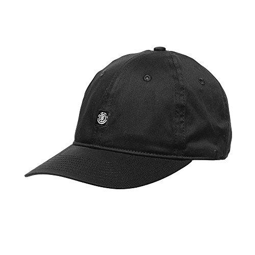 Element Herren FLUKY DAD Cap Kappe, All Black, One Size