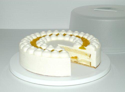 504918 Basic Cake Butler, cake carrier and storage, Ø 33 cm, translucent/blue