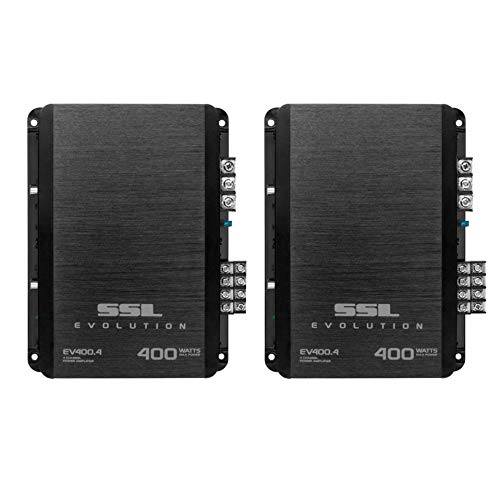 Soundstorm 400 Watt 4 Channel Car Power Amplifier Amp Mosfet SSL, Black (2 Pack)