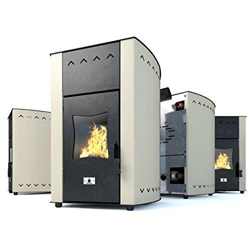 Estufa caldera de pellets Eco Spar modelo Hydro Minima Salida de calor 12kW