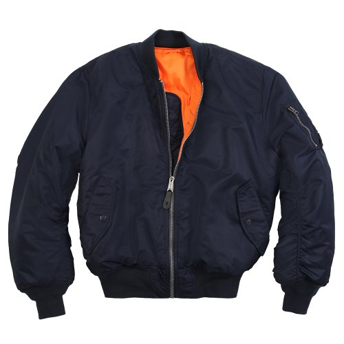 Navy Blue Bomber Jackets Outfit Men's