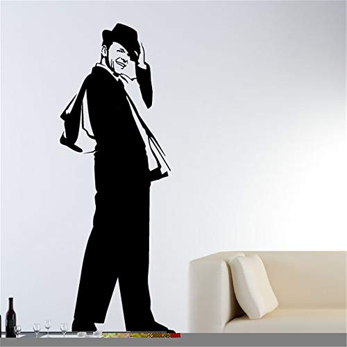 Wall Decal Sticker Art Mural Home Decor Quote Portrait of Frank Sinatra for Living Room Bedroom Wall Sticker