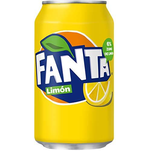 Fanta - Bebida refrescante con zumo de limón - Lata 33 cl