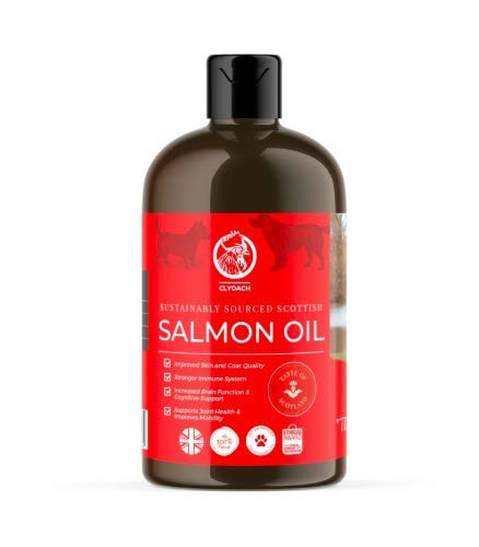 Clydach Farm Scottish Salmon Oil, for Dogs, 500ml, Omega 3, 6 and 9, 100% Natural & Pure