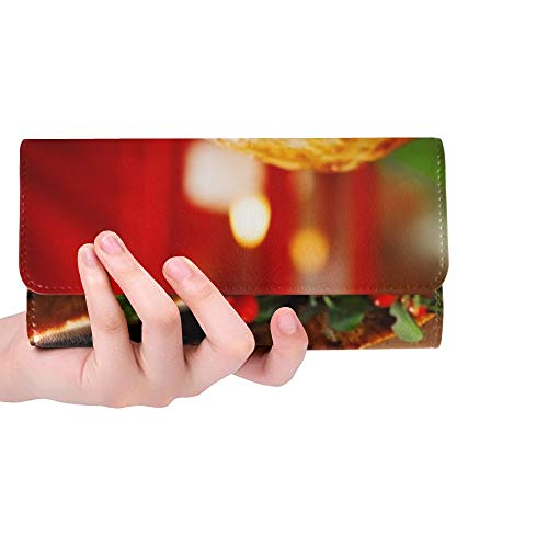 Único Personalizado de Navidad Jamón Al Horno Servido En Ancianas Monedero Monedero Largo Monedero Titular de la Tarjeta de Crédito Caso Bolso
