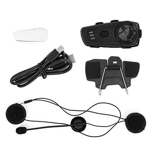 Intercomunicador Bluetooth, intercomunicador recargable para casco de motocicleta M6, MP3, auricular inalámbrico Bluetooth 5,0, interfono impermeable