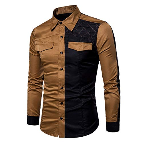 Camisas Casual Hombre Manga Larga, Covermason Trajes de Hombres Slim Fit tee Blouse